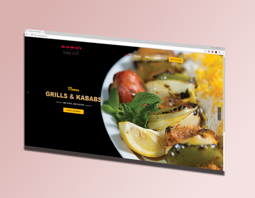 Momo's Grills Website and SEO